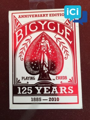 """Lot cartes collector BICYCLE """"125 YEARS"""""""