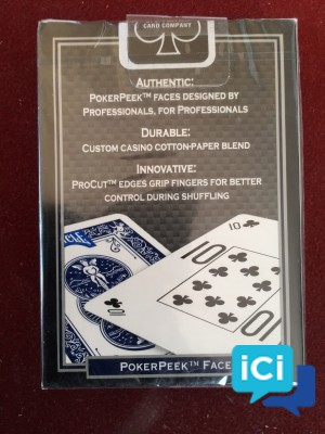 "Lot cartes collector BICYCLE ""Pro POKER PEEK"""