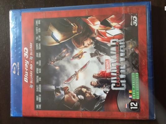 Bluray 3D Neuf - Captain América - CIVIL WAR