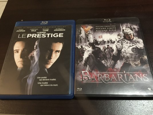 Lot de Bluray - Le PRESTIGE / BARBARIANS