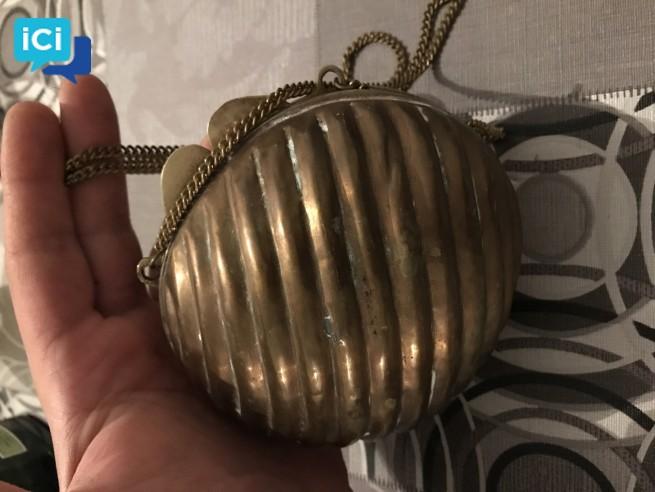 Porte monnaie cuivre et laiton année 70