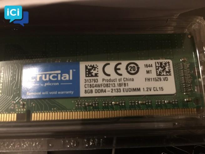 Barrette de mémoire Crucial DDR4 8GB - Neuve