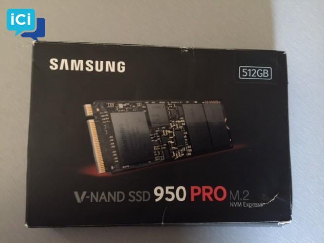 Disque dur PC PORTABLE - Samsung SSD 950 PRO M.2 PCIe 512 Go