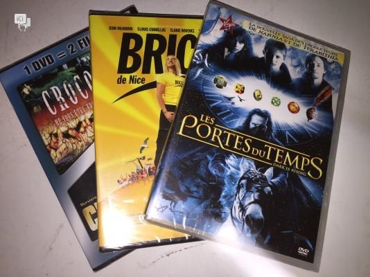 Lot de  3 dvd occasion: Les portes du temps - Brice - Crocodile 1 et 2