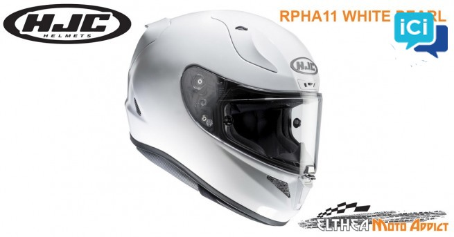 Casque intégral moto NEUF sous emballage HJC RPHA11 Blanc Perle