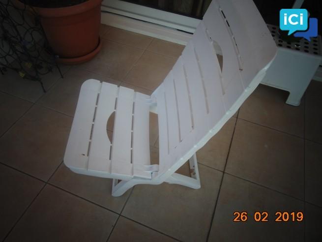 chaises basse de plage