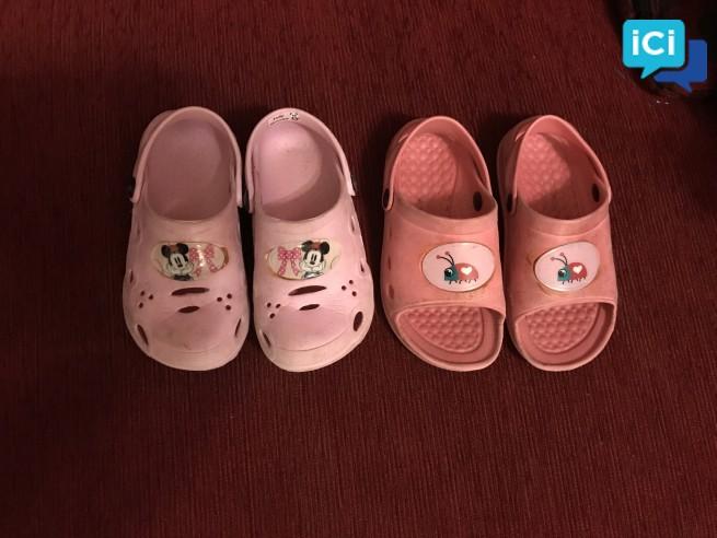 Lot chaussures d'été petite fille