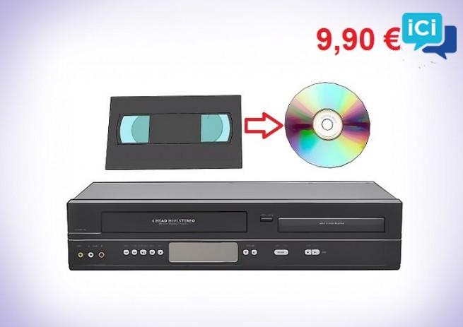 Transfert de cassettes vhs ou vhs-c sur dvd par particulier