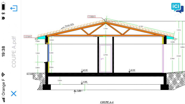 Dessinateur bâtiment plan permis de construire
