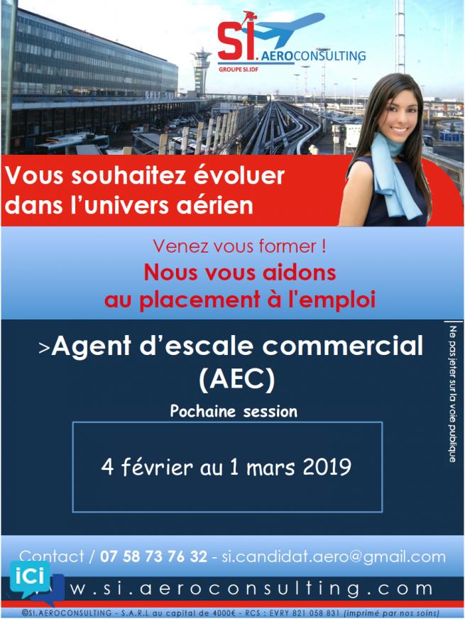 DEVENEZ AGENT D'ESCALE COMMERCIAL (AEC)