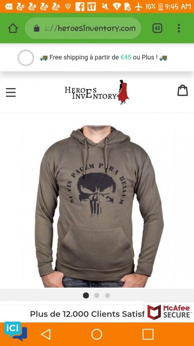 Casquette , T-shirt et Sweat-shirts The Punisher à des prix de Ouff !