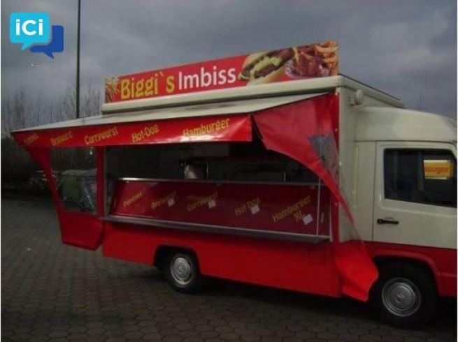 camion snack de marque mercedes benz