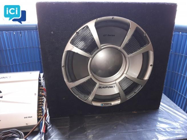 Caisson de basse/subwoofer Blaupunkt gt series 1200 + AMPLIFICATEUR BLAUPUNKT GTA 450 - 640 WATTS