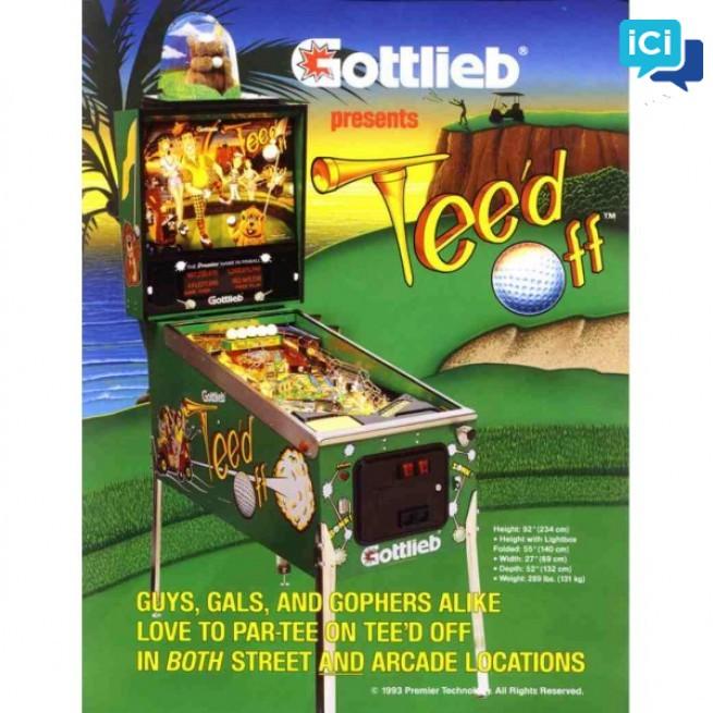 Flipper Gottlieb TEED OFF 4 joueurs