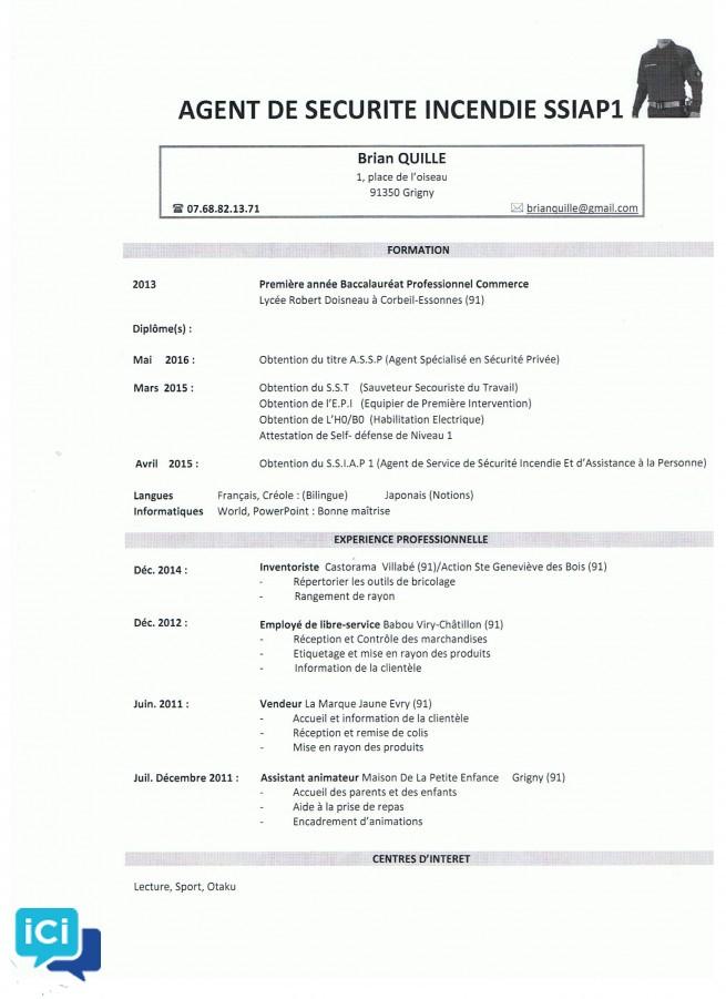 Recherche emploi d'Agent de sécurité incendie SSIAP 1