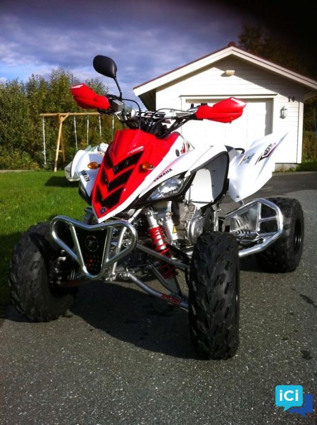 Quad Yamaha YFM Raptor 700R homologuée blanc rouge