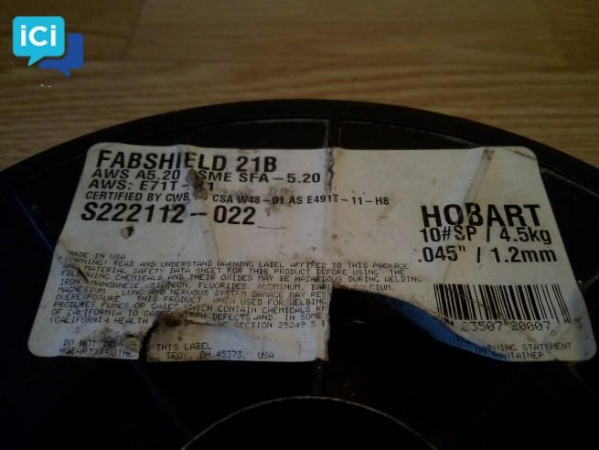 Bobine fil de soudage sans gaz 1.2mm 4,5kg - soudure