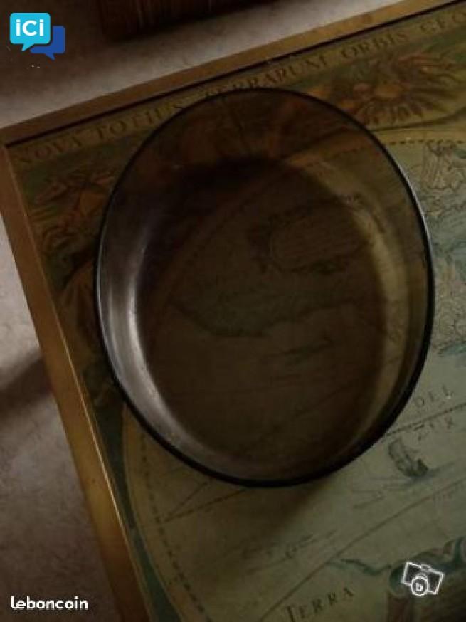 plat ovale en pyrex