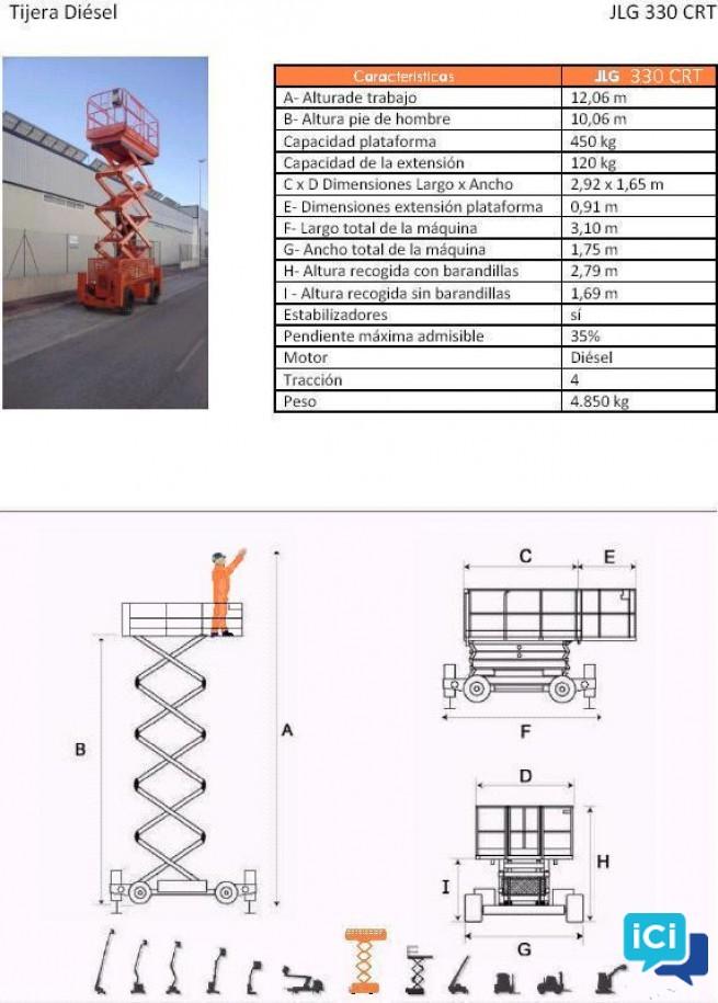 Ciseaux Diesel 12m 330 CRT